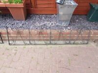 iron fencing or wall topper