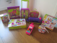 LOTS AND LOTS OF GIRLS POLLY POCKET ITEMS - FROM £9.00