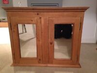 Bathroom cabinet - mirrored cupboard - upcycling project