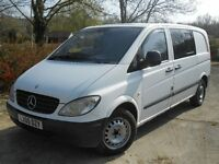 2005 MERCEDES VITO 111 CDI DOUBLE CREW EX POLICE DOG VAN 4 GOOD SIZE CAGES. IDEAL FOR DOG WALKERS