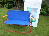 Childs Canvas Folding Bench