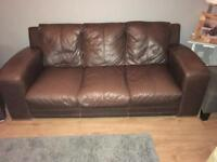 FREE 2&3 seater Leather Sofas