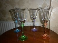 4 wine glasses (Galway Crystal)
