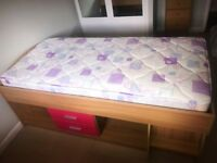 KidSpace mid rise single bed