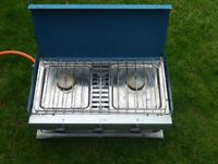Camping Gas Camping Chef 2. folding 2 burner cooker, FULL cylinder and regulator in good condition.