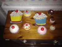 Cupcake kitchen ornaments