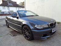 2005 BMW 3 SERIES CONVERTIBLE 330i FACTORY M SPORT, 2 KEYS , FULL SERVICE HISTORY, 1 YEAR MOT