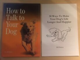 How to Talk to Your Dog - Bill Habets Softcover Book & additional booklet | Excellent condition