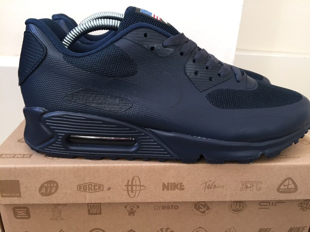 best service 6d028 394f7   QUICK SALE NIKE AIR MAX 90 Independence Day   Midnight Navy Uk8.5