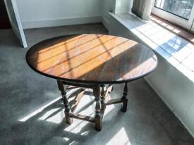 Antique folding coffee table