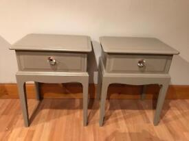 Annie Sloan French linen stag minstrel bedside cabinets table shabby chic