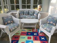 Four piece wicker furniture set