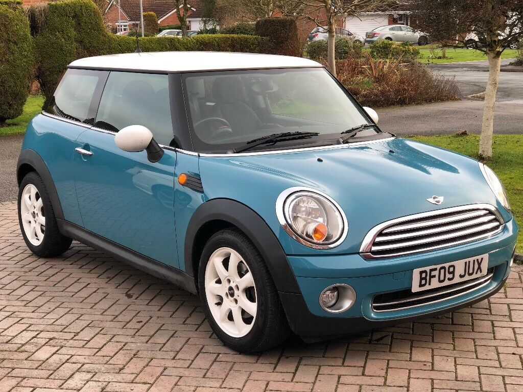 mini cooper 1 6 oxygen blue 2009 with pepper pack 43 000 miles full mini history in. Black Bedroom Furniture Sets. Home Design Ideas