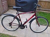 "Mens Hybrid Road Bike 21"" 18 speed"