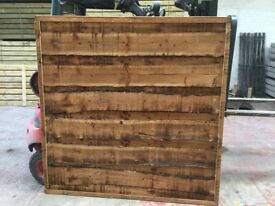 Waneylap fence panels 8mm boards pressure treated brown
