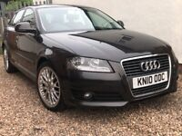 2010 AUDI A3 1.6 TDI SPORTBACK + FULL HEATED RED LEATHER +FULL SERVICE HISTORY + LOW 78,000 MILES