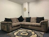 Grey corded corner sofa delivery 🚚 sofa suite couch