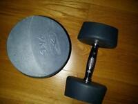 Reebok RBX Steel Polyurethane Dumbbells 2 x 9 kg