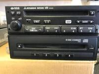 GENUINE MITSUBISHI W142 CD HEAD UNIT AND **4 DISC CD CHANGER** GREAT CONDITION