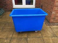 Large plastic tub