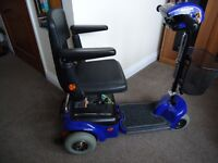 SHOP RIDER 'WISPA' DISABILITY MOBILITY SCOOTER IN BLUE