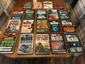 Andy Mcnab & Chris Ryan hardback books