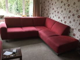Cousins Red Corner Sofa