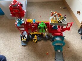 Transformers rescue bots fire house