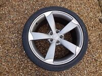 "19"" Genuine Audi Rotor Alloy Wheel + Dunlop Sport Max 7mm 5x112"
