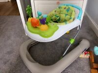 2 in 1 baby walker with toy tray. Great condition