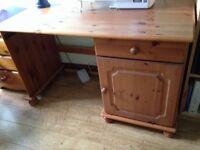 Pine wooden desk