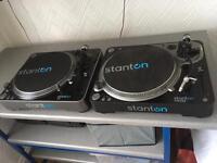 Stanton T92 & T62 Turntable Decks Dj. Pioneer Technics Style