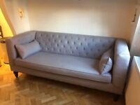 Made Flynn 3 Seater Sofa in Persian Grey (£699 new) - Good Condition