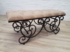 Ornate Upholstered Window/Hall bench (DELIVERY AVAILABLE FOR THIS ITEM OF FURNITURE)