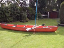 COLEMAN - RAM X17 CANOE with SAIL and PADDLES