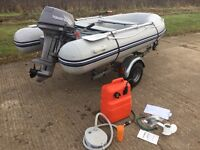 *Immaculate Tohatsu 15hp Outboard, Waveline RIB & Trailer - Complete Package