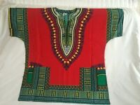 DASHIKI SHIRT - AFRICAN - MEXICAN - HIPPIE - FESTIVAL - MULTI COLOR - TOP-SUMMER