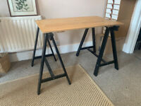 Desk with trestle legs