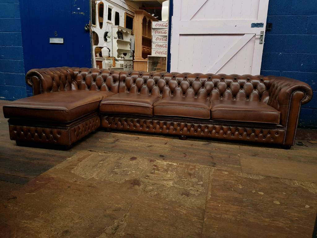 Bespoke Saxon Chesterfield L Shape Sofa Over 3meters Long