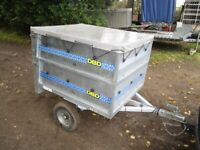DBD DOUBLE HEIGHT GOODS TRAILER WITH DROPTAIL & COVER.......