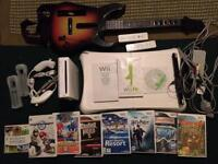 Nintendo Wii Console + Balance Board + Guitar