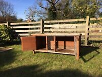 Guinea pig or rabbit hutch & cover
