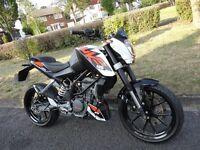 KTM DUKE 125cc 1900 MILES ONLY 125cc