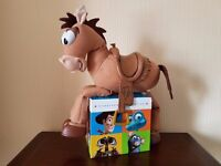 Toy Story Woody's Roundup Talking Bullseye Doll - Good Condition (Box-Set NOT Included)