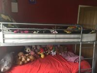 Metal Frame Bunk Beds with 2 as new mattresses
