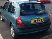 2004 Renault Clio 1.5dci 80bhp, cambelt done, new MOT, £20 tax, 70mpg, in West Wales and Wiltshire.