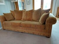 2 Sofas, 4 seater pillowback and large 2 seater standard back
