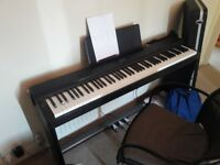 Casio PX-330, 88 weighted keys, tri-sensor scaled hammer action