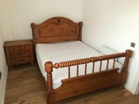 Bed and chest of drawers