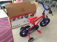 boys brand new bike just opened and assembled but big for my 2 year old
